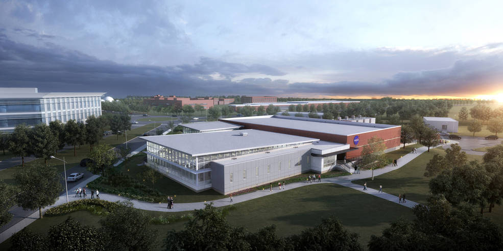 The Katherine G. Johnson Computational Research Facility at NASA's Langley Research Center in Hampton, Virginia. Credits: NASA